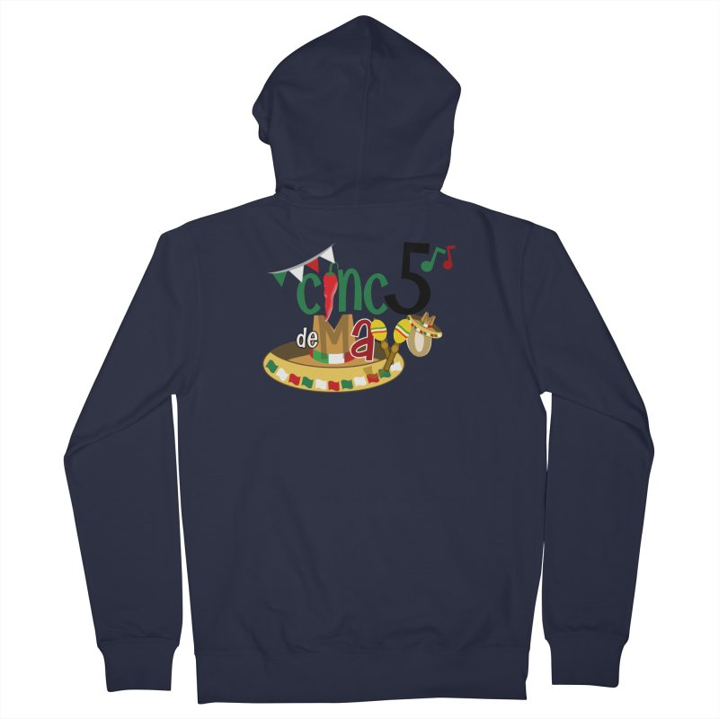 Cinco de Mayo Men's French Terry Zip-Up Hoody by PickaCS's Artist Shop