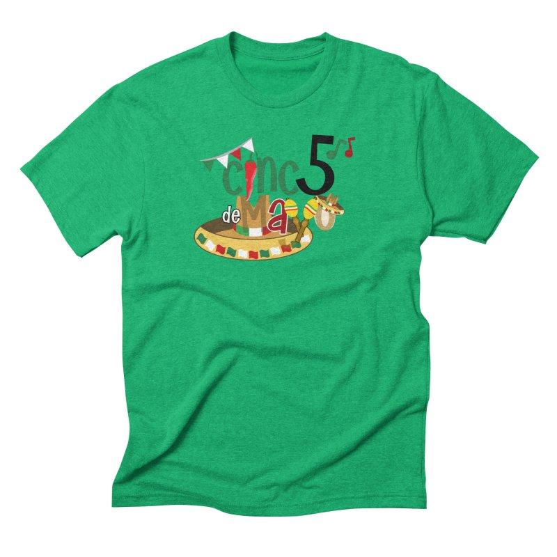 Cinco de Mayo Men's Triblend T-Shirt by PickaCS's Artist Shop