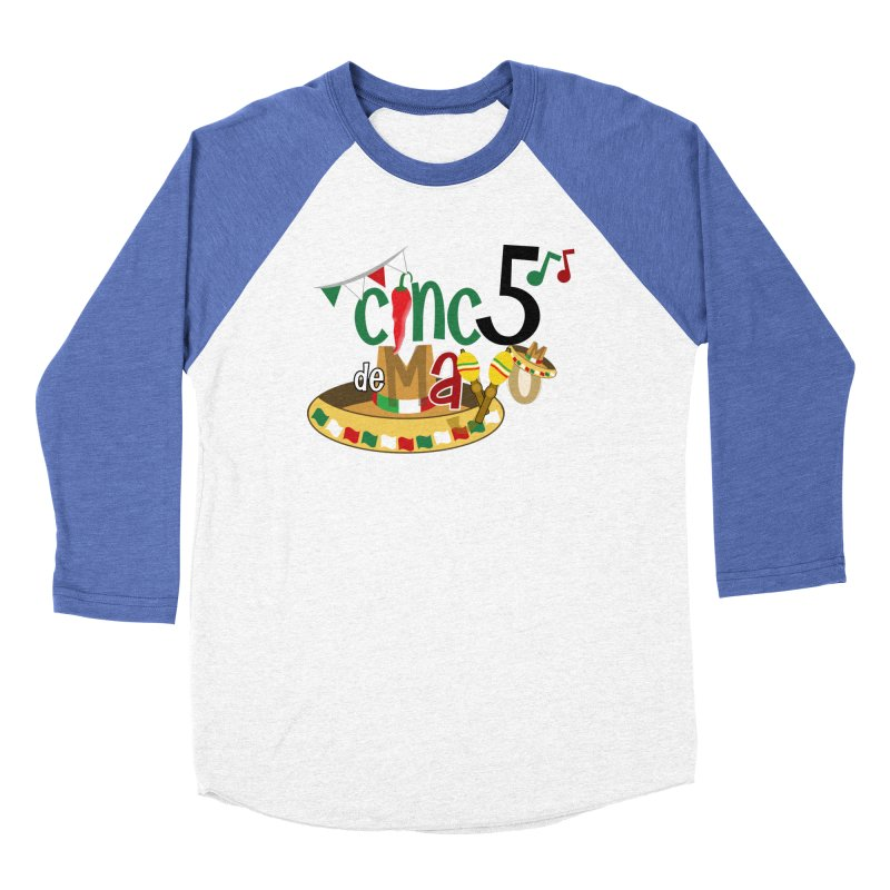 Cinco de Mayo Men's Baseball Triblend Longsleeve T-Shirt by PickaCS's Artist Shop