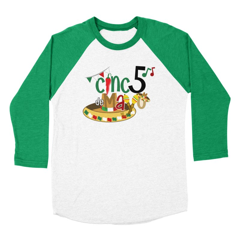 Cinco de Mayo Men's Baseball Triblend Longsleeve T-Shirt by PickaCS's Artist Shop