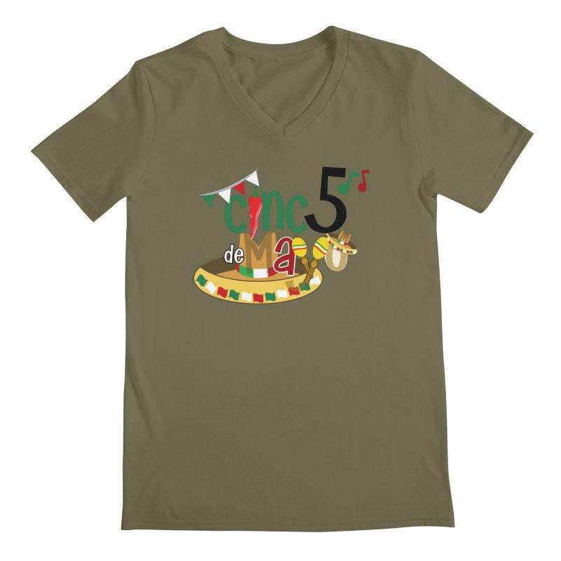 Cinco de Mayo Men's Regular V-Neck by PickaCS's Artist Shop