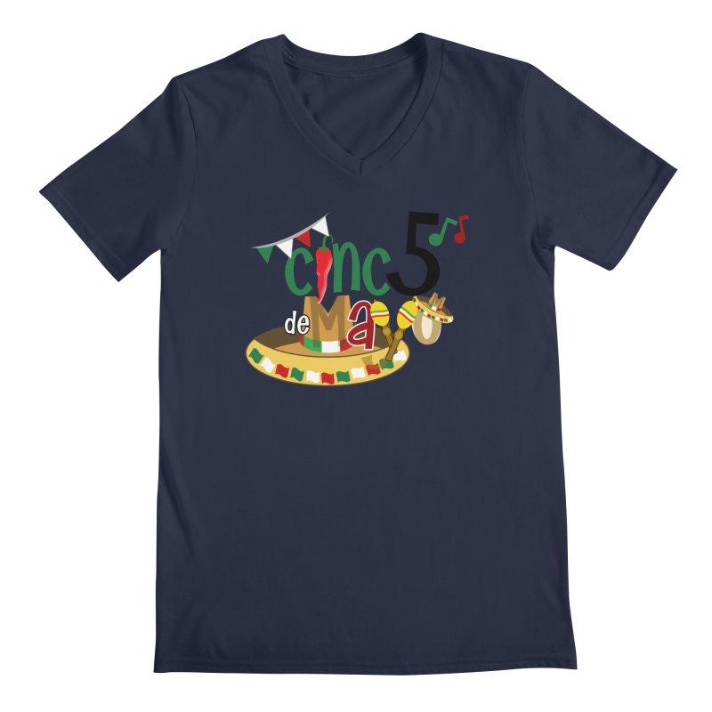 Cinco de Mayo Men's V-Neck by PickaCS's Artist Shop