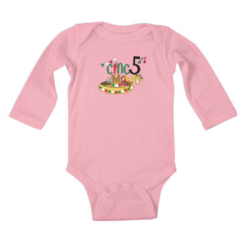 Cinco de Mayo Kids Baby Longsleeve Bodysuit by PickaCS's Artist Shop