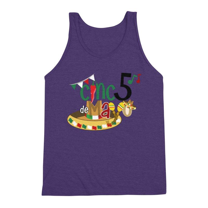 Cinco de Mayo Men's Triblend Tank by PickaCS's Artist Shop