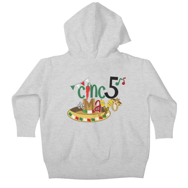 Cinco de Mayo Kids Baby Zip-Up Hoody by PickaCS's Artist Shop