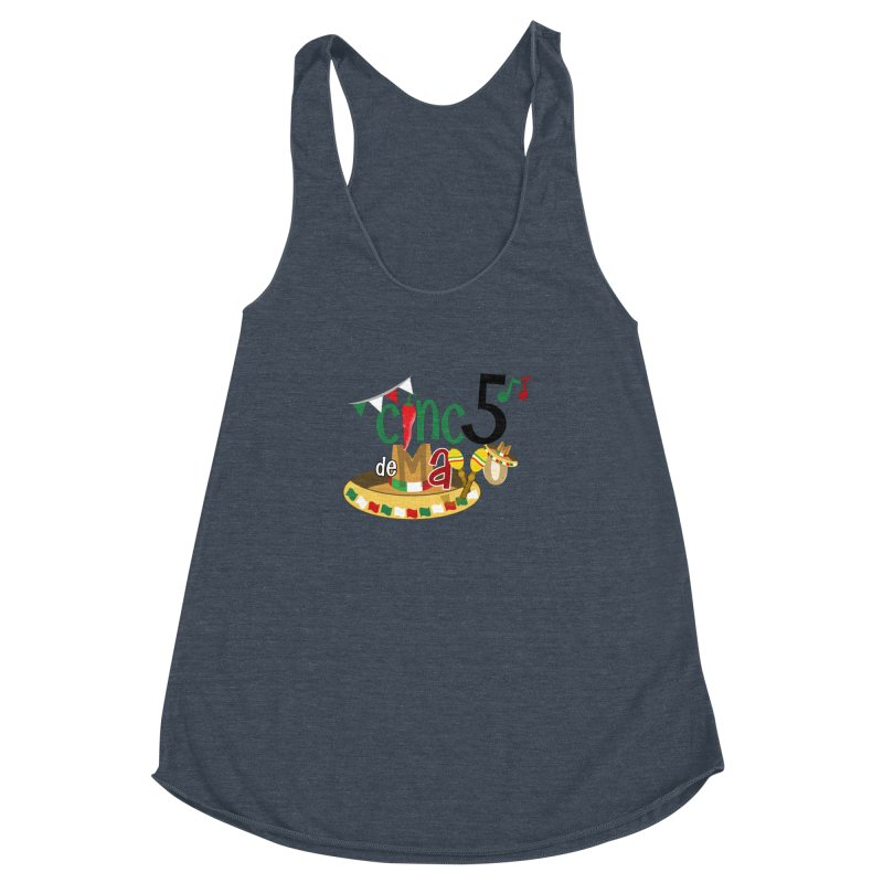 Cinco de Mayo Women's Racerback Triblend Tank by PickaCS's Artist Shop