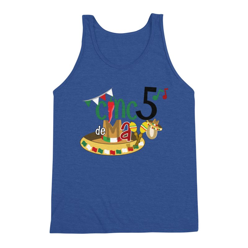 Cinco de Mayo Men's Triblend Tank by PickaCS's Artist Shop
