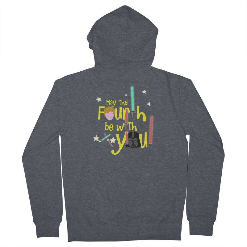 May the FOURTH... Men's French Terry Zip-Up Hoody by PickaCS's Artist Shop