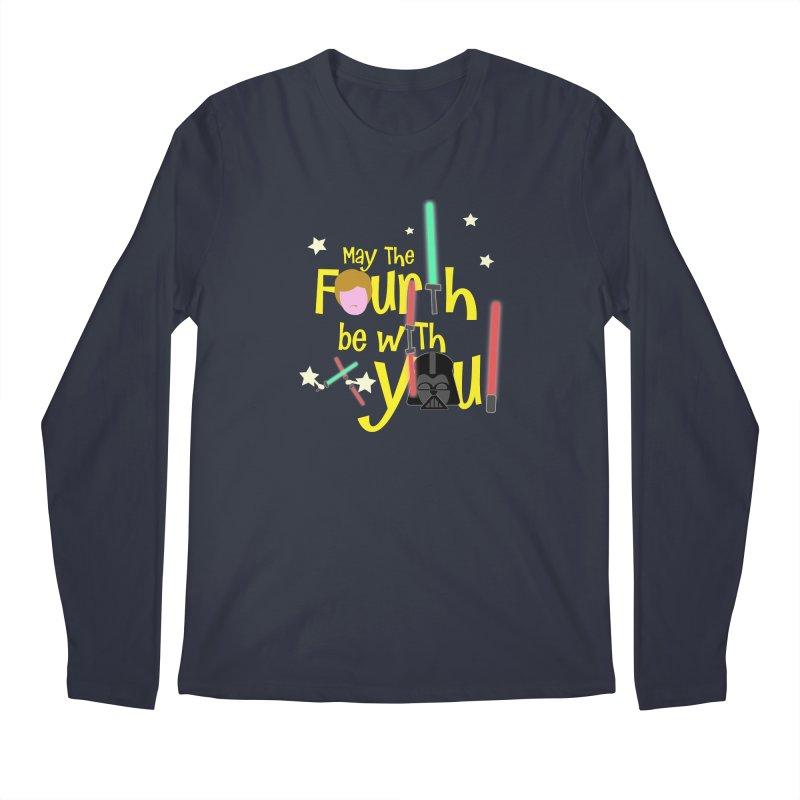 May the FOURTH... Men's Regular Longsleeve T-Shirt by PickaCS's Artist Shop