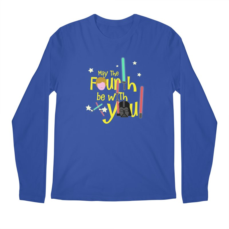 May the FOURTH... Men's Regular Longsleeve T-Shirt by PickaCS's Artist Shop