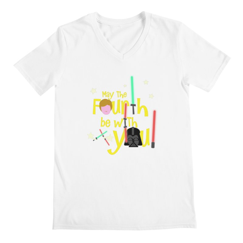 May the FOURTH... Men's Regular V-Neck by PickaCS's Artist Shop