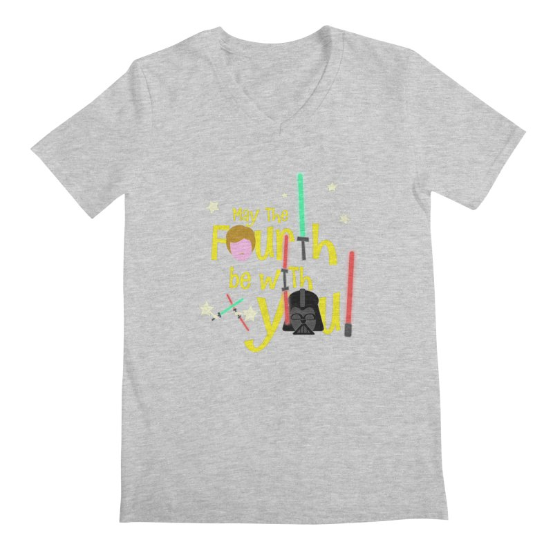 May the FOURTH... Men's V-Neck by PickaCS's Artist Shop