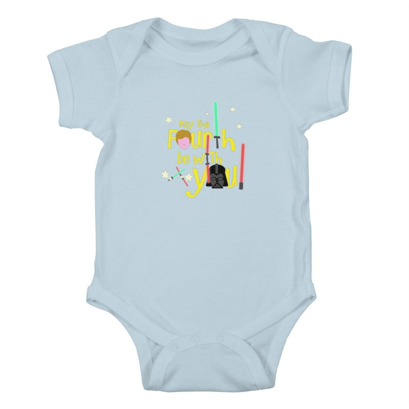 May the FOURTH... Kids Baby Bodysuit by PickaCS's Artist Shop