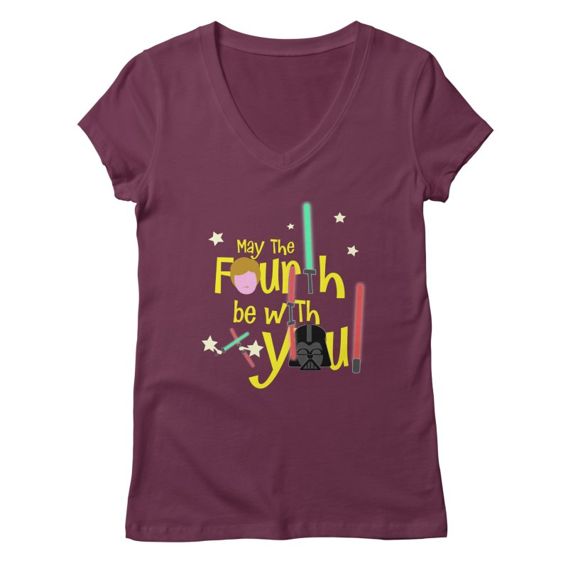 May the FOURTH... Women's Regular V-Neck by PickaCS's Artist Shop