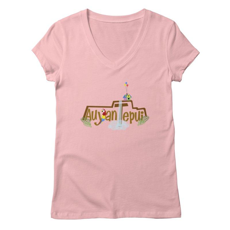 AuyanTepui Women's Regular V-Neck by PickaCS's Artist Shop