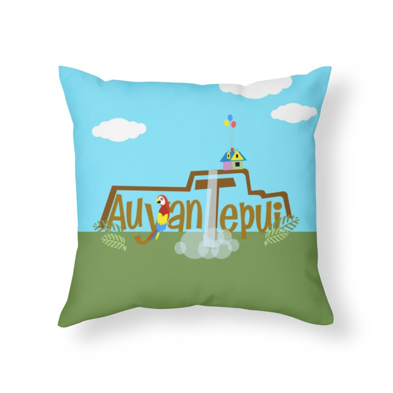 AuyanTepui in Throw Pillow by PickaCS's Artist Shop