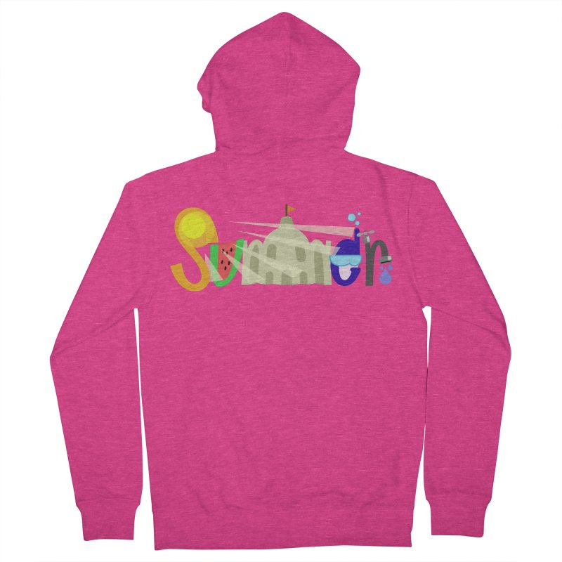 SuMMer Women's French Terry Zip-Up Hoody by PickaCS's Artist Shop