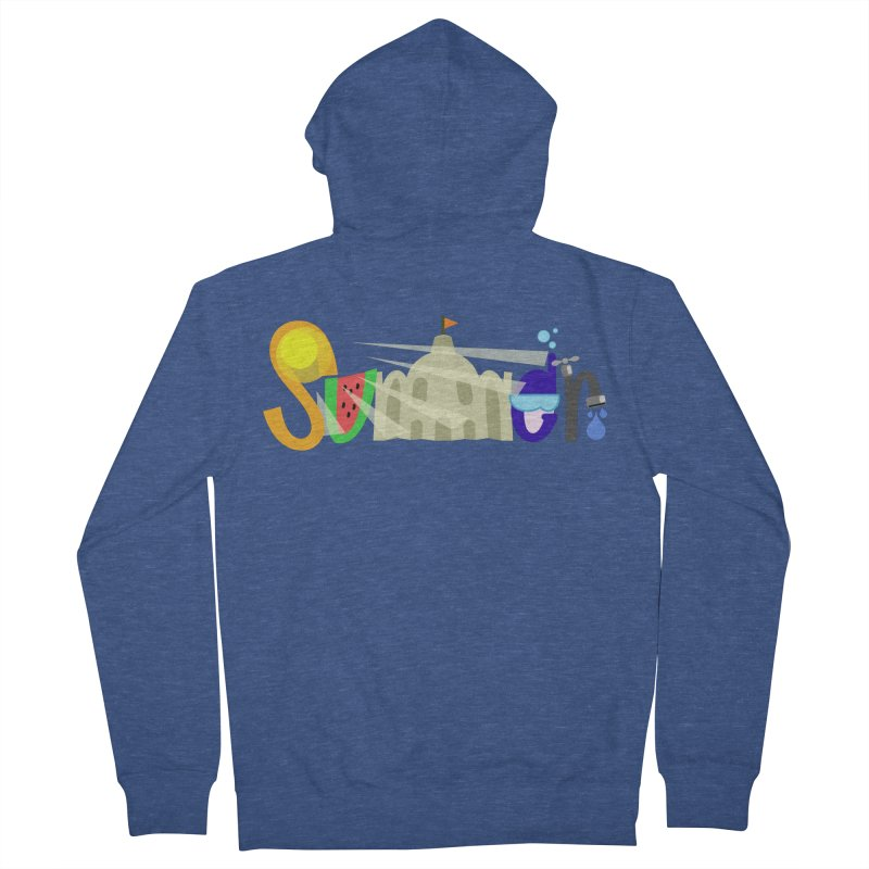 SuMMer Men's French Terry Zip-Up Hoody by PickaCS's Artist Shop
