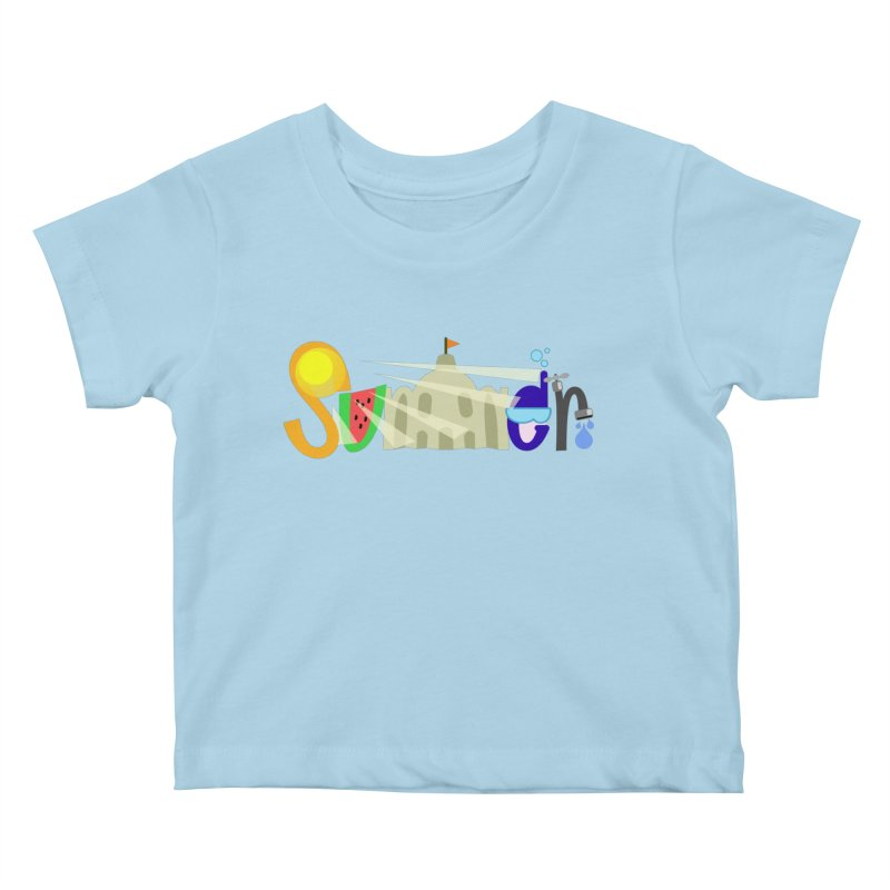SuMMer Kids Baby T-Shirt by PickaCS's Artist Shop
