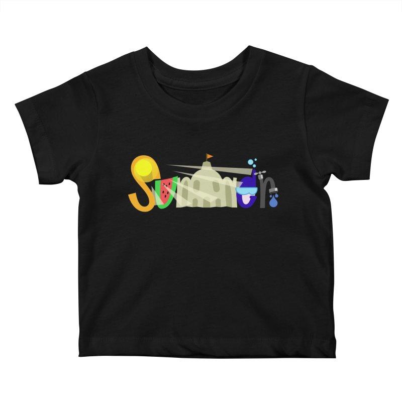 SuMMer Kids Baby T-Shirt by PickaCS's Artist Shop