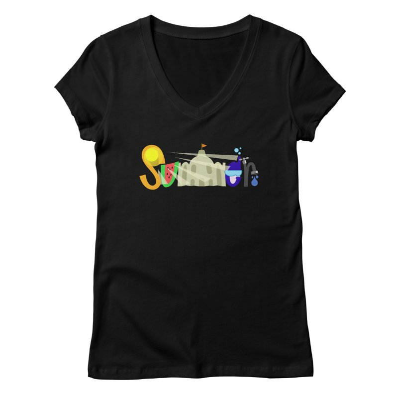 SuMMer Women's V-Neck by PickaCS's Artist Shop