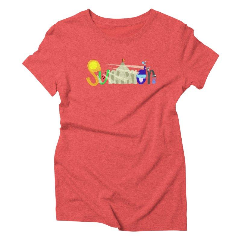 SuMMer Women's Triblend T-Shirt by PickaCS's Artist Shop