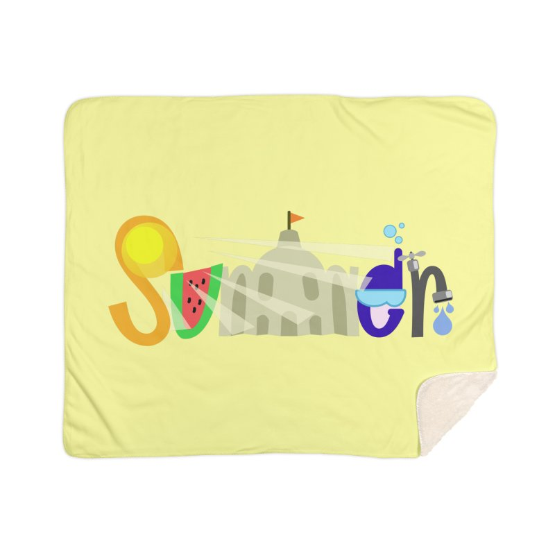 SuMMer Home Sherpa Blanket Blanket by PickaCS's Artist Shop