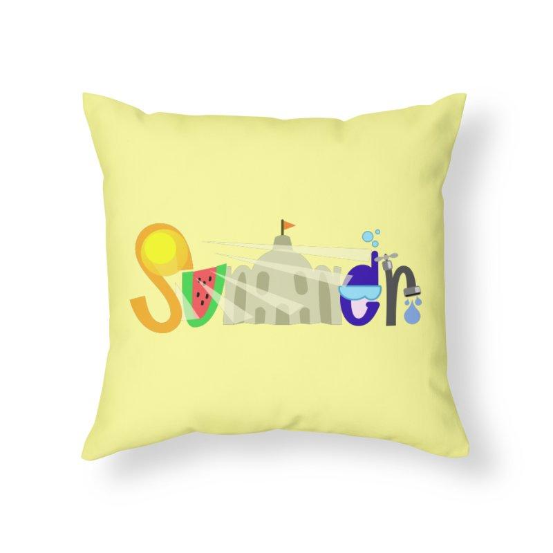 SuMMer Home Throw Pillow by PickaCS's Artist Shop