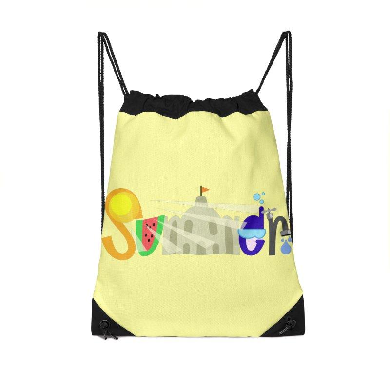 SuMMer Accessories Drawstring Bag Bag by PickaCS's Artist Shop