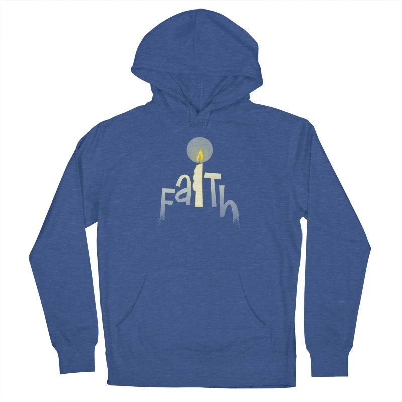 Faith Men's French Terry Pullover Hoody by PickaCS's Artist Shop