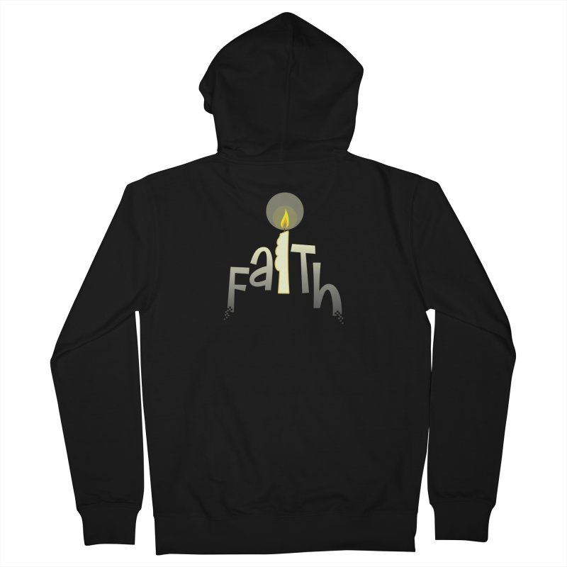 Faith Men's French Terry Zip-Up Hoody by PickaCS's Artist Shop