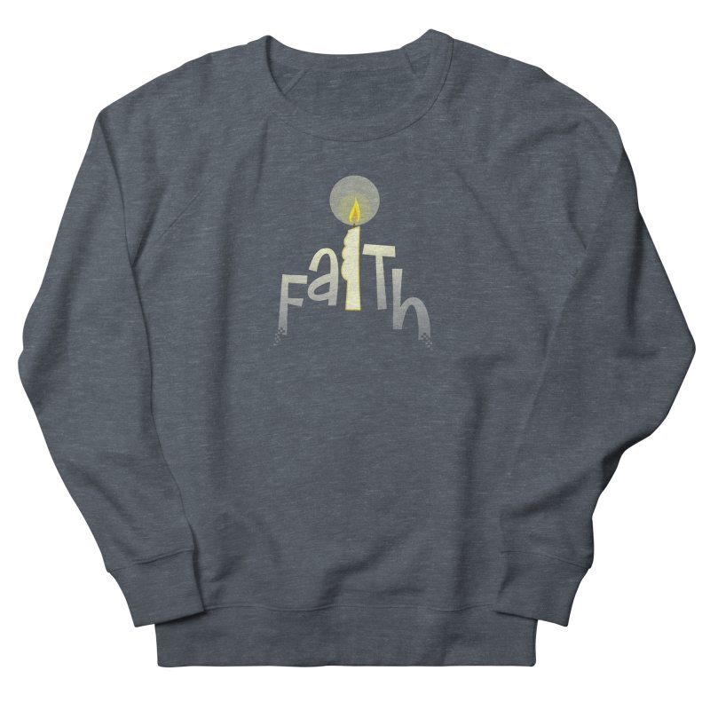 Faith Men's French Terry Sweatshirt by PickaCS's Artist Shop