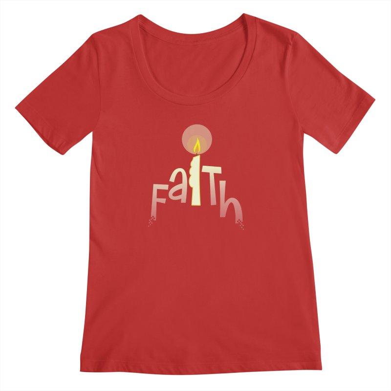 Faith Women's Regular Scoop Neck by PickaCS's Artist Shop