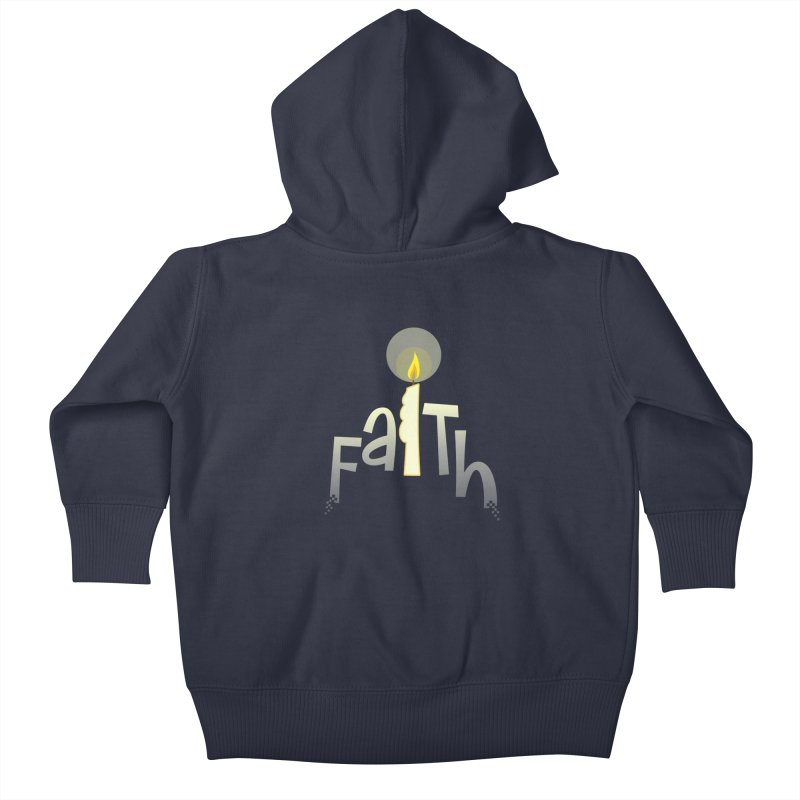 Faith Kids Baby Zip-Up Hoody by PickaCS's Artist Shop