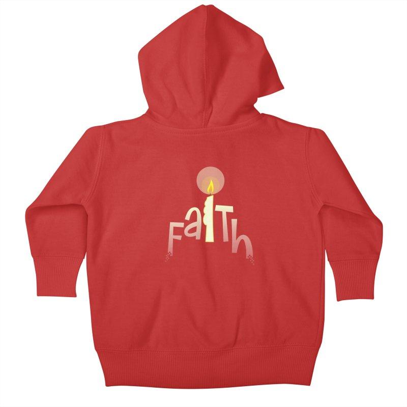 Faith Kids Baby Zip-Up Hoody by PickaCS's Artist Shop