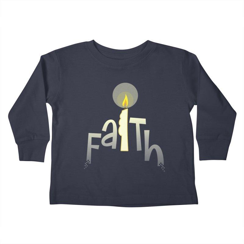 Faith Kids Toddler Longsleeve T-Shirt by PickaCS's Artist Shop