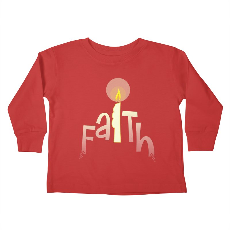 Faith Kids Toddler Longsleeve T-Shirt by PickaCS's Artist Shop