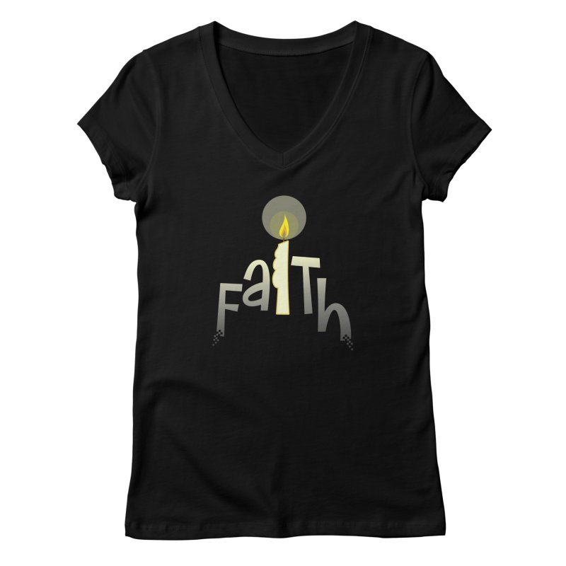 Faith Women's V-Neck by PickaCS's Artist Shop