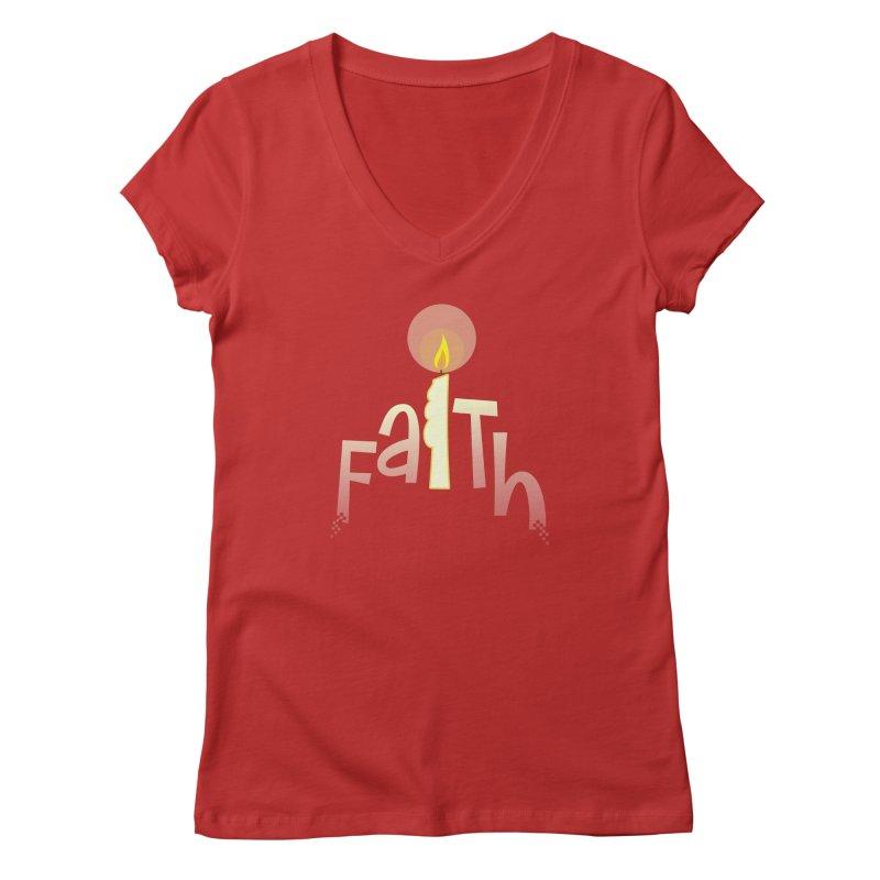 Faith Women's Regular V-Neck by PickaCS's Artist Shop