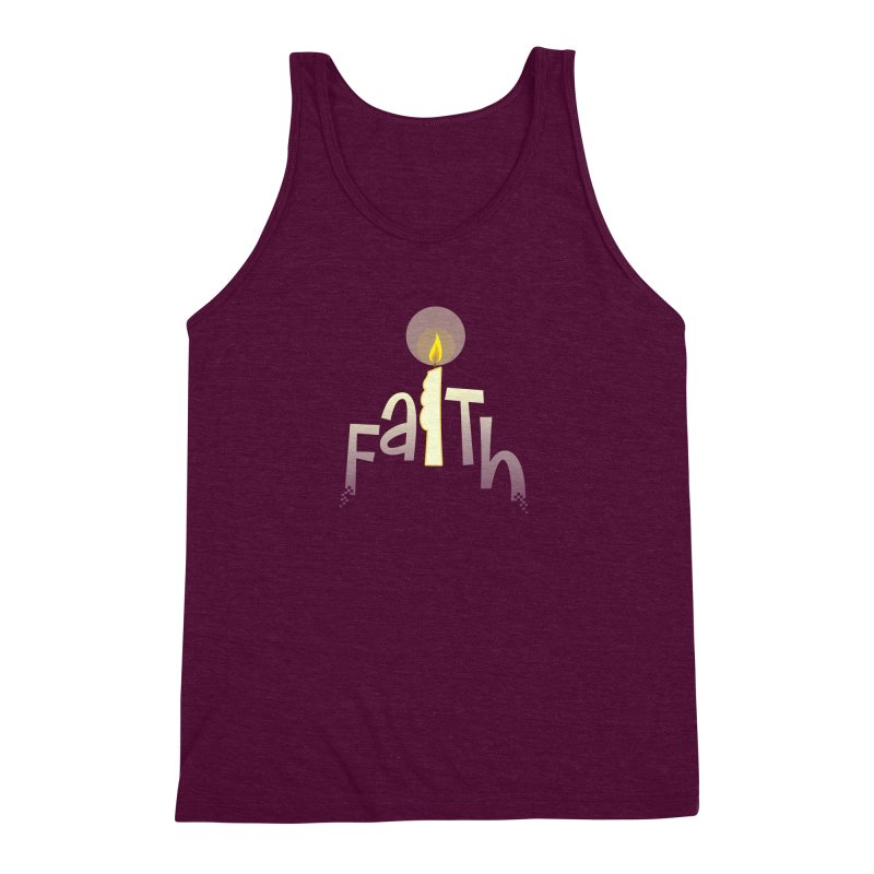 Faith Men's Triblend Tank by PickaCS's Artist Shop