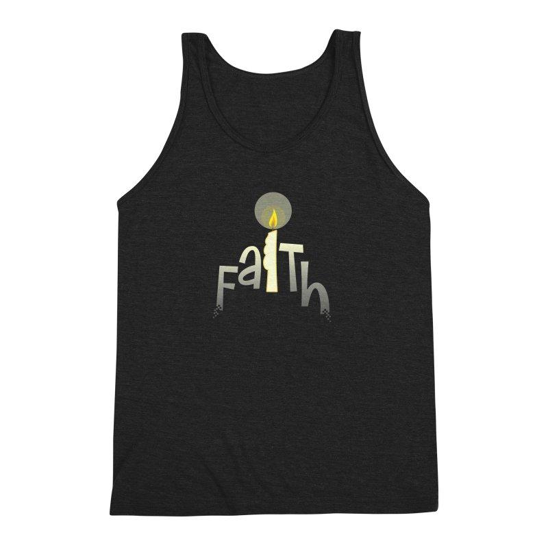 Faith Men's Triblend Tank by PickaCS's Artist Shop