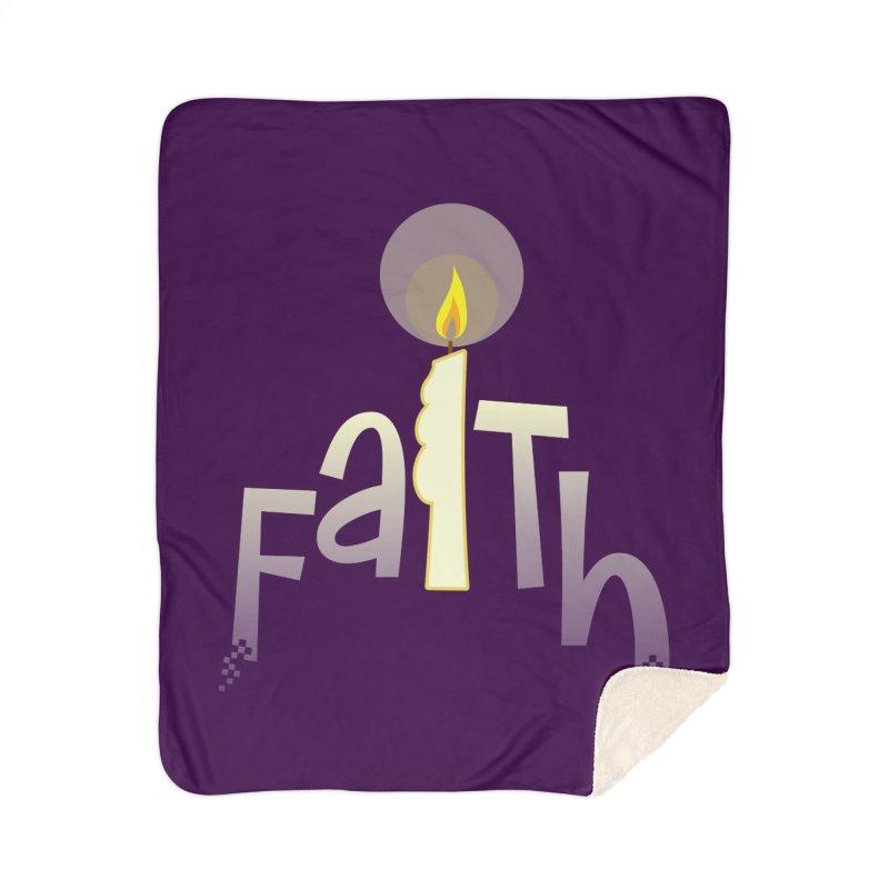 Faith Home Sherpa Blanket Blanket by PickaCS's Artist Shop