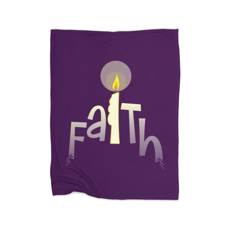 Faith Home Fleece Blanket Blanket by PickaCS's Artist Shop