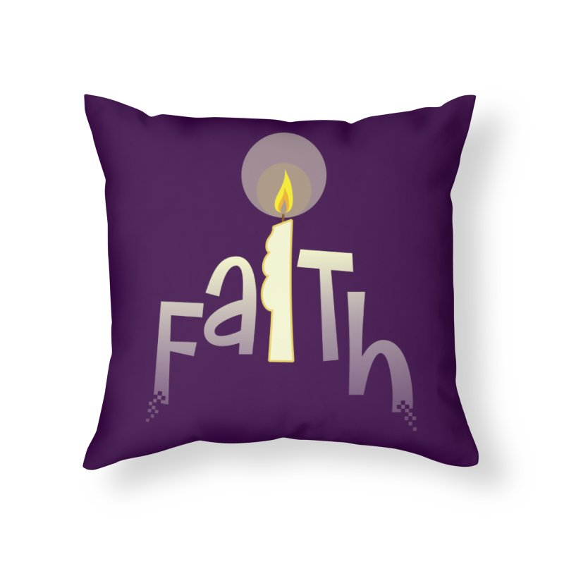 Faith Home Throw Pillow by PickaCS's Artist Shop