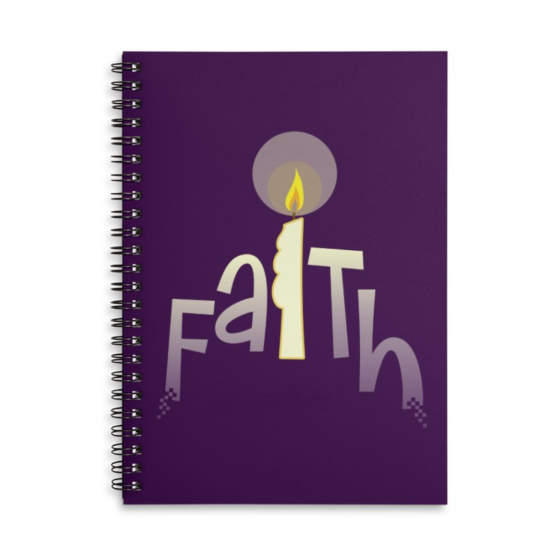 Faith Accessories Lined Spiral Notebook by PickaCS's Artist Shop