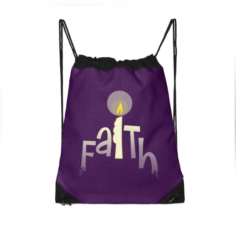 Faith Accessories Drawstring Bag Bag by PickaCS's Artist Shop