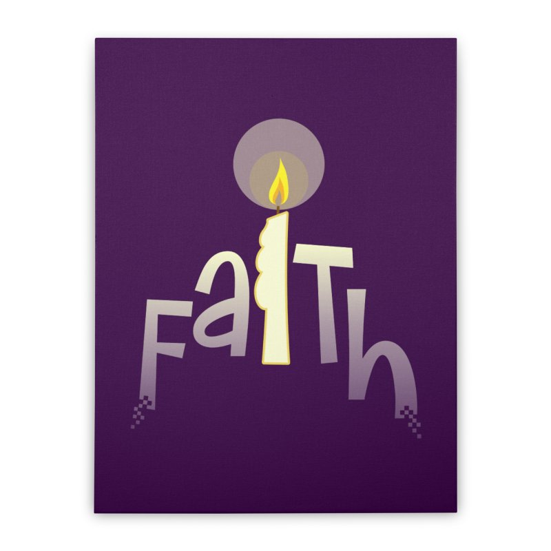 Faith Home Stretched Canvas by PickaCS's Artist Shop