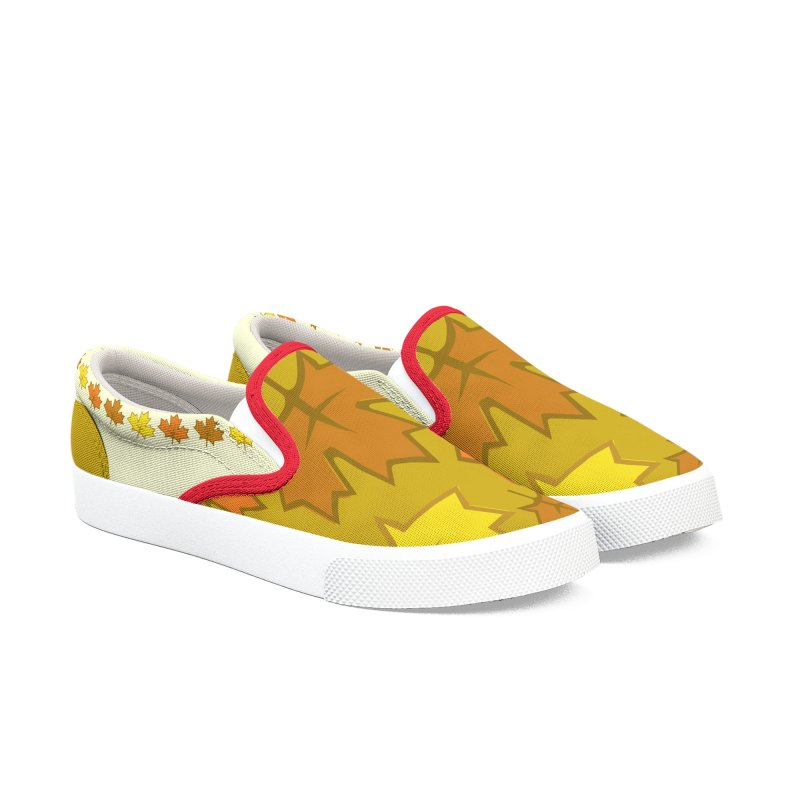 Fall in Autumn Women's Slip-On Shoes by PickaCS's Artist Shop