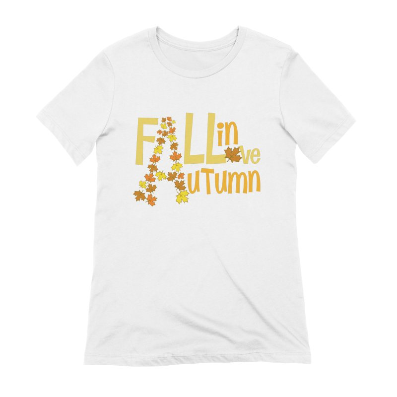 Fall in Autumn Women's Extra Soft T-Shirt by PickaCS's Artist Shop