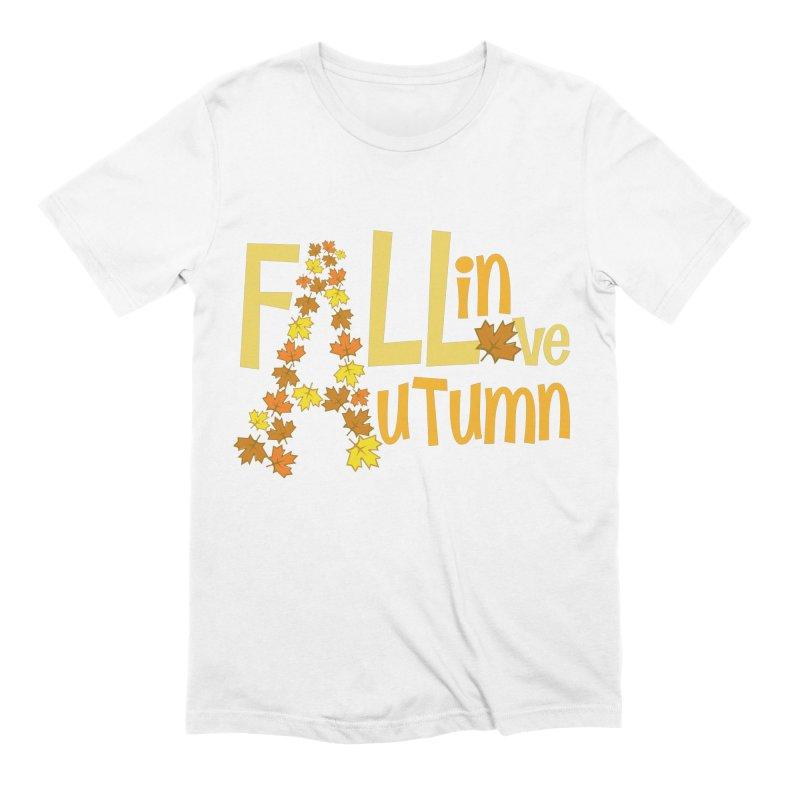 Fall in Autumn Men's Extra Soft T-Shirt by PickaCS's Artist Shop